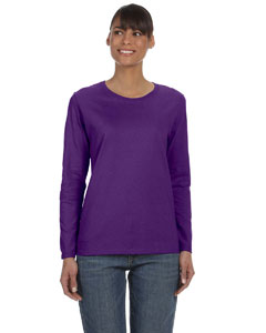 Purple Women's 5.3 oz. Heavy Cotton Missy Fit Long-Sleeve T-Shirt