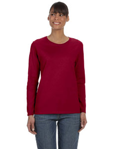 Cardinal Red Women's 5.3 oz. Heavy Cotton Missy Fit Long-Sleeve T-Shirt