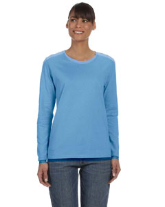 Carolina Blue Women's 5.3 oz. Heavy Cotton Missy Fit Long-Sleeve T-Shirt