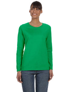 Irish Green Women's 5.3 oz. Heavy Cotton Missy Fit Long-Sleeve T-Shirt