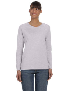 Sport Grey Women's 5.3 oz. Heavy Cotton Missy Fit Long-Sleeve T-Shirt