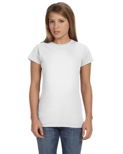 White Women's 4.5 oz. SoftStyle Junior Fit T-Shirt