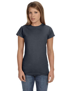 Charcoal Women's 4.5 oz. SoftStyle Junior Fit T-Shirt