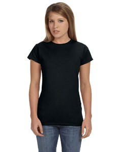 Black Women's 4.5 oz. SoftStyle Junior Fit T-Shirt