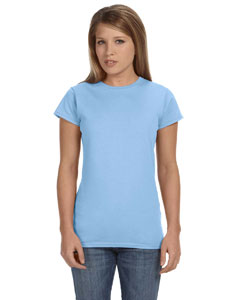 Light Blue Women's 4.5 oz. SoftStyle Junior Fit T-Shirt