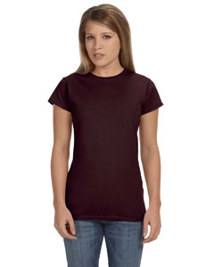 Dark Chocolate Women's 4.5 oz. SoftStyle Junior Fit T-Shirt