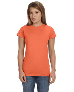 Heather Orange Women's 4.5 oz. SoftStyle Junior Fit T-Shirt