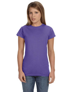 Heather Purple Women's 4.5 oz. SoftStyle Junior Fit T-Shirt