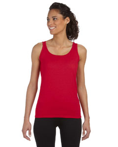 Cherry Red Women's 4.5 oz. SoftStyle® Junior Fit Tank Top