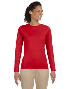 Cherry Red Women's 4.5 oz. SoftStyle Junior Fit Long-Sleeve T-Shirt