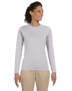 Sport Grey Women's 4.5 oz. SoftStyle Junior Fit Long-Sleeve T-Shirt