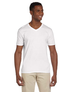 White Softstyle® 4.5 oz. V-Neck T-Shirt