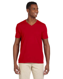 Cherry Red Softstyle® 4.5 oz. V-Neck T-Shirt