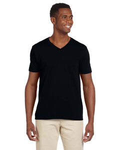 Black Softstyle® 4.5 oz. V-Neck T-Shirt