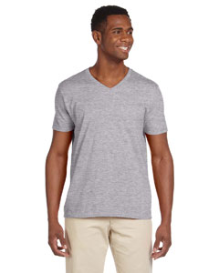 Sport Grey Softstyle® 4.5 oz. V-Neck T-Shirt