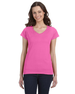 Azalea Women's 4.5 oz. SoftStyle Junior Fit V-Neck T-Shirt
