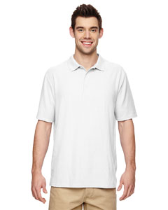 White DryBlend® 6.3 oz. Double Piqué Sport Shirt