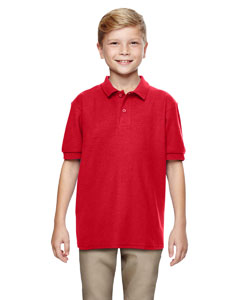Red DryBlend® Youth 6.3 oz. Double Piqué Sport Shirt