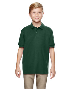 Forest Green DryBlend® Youth 6.3 oz. Double Piqué Sport Shirt