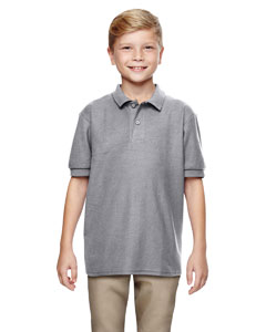 Sport Grey DryBlend® Youth 6.3 oz. Double Piqué Sport Shirt