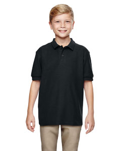 Black DryBlend® Youth 6.3 oz. Double Piqué Sport Shirt