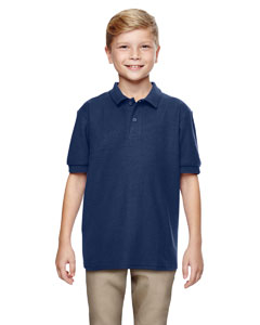 Navy DryBlend® Youth 6.3 oz. Double Piqué Sport Shirt