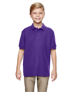 Purple DryBlend® Youth 6.3 oz. Double Piqué Sport Shirt