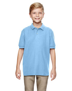 Light Blue DryBlend® Youth 6.3 oz. Double Piqué Sport Shirt