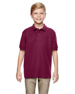 Maroon DryBlend® Youth 6.3 oz. Double Piqué Sport Shirt