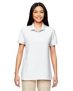White DryBlend® Ladies' 6.3 oz. Double Piqué Sport Shirt
