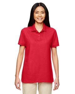 Red DryBlend® Ladies' 6.3 oz. Double Piqué Sport Shirt