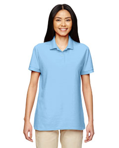 Light Blue DryBlend® Ladies' 6.3 oz. Double Piqué Sport Shirt