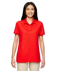 Maroon DryBlend® Ladies' 6.3 oz. Double Piqué Sport Shirt