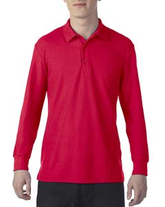 Red Dryblend Double Pique Long-Sleeve Polo