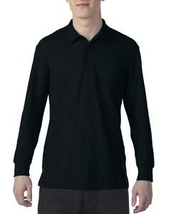Black Dryblend Double Pique Long-Sleeve Polo