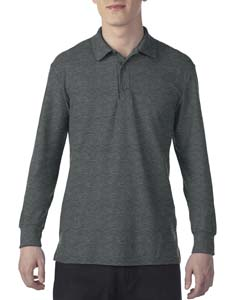 Dark Heather Dryblend Double Pique Long-Sleeve Polo