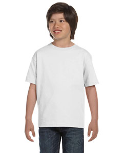 White DryBlend™ Youth 5.6 oz., 50/50 T-Shirt