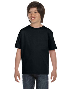 Black DryBlend™ Youth 5.6 oz., 50/50 T-Shirt