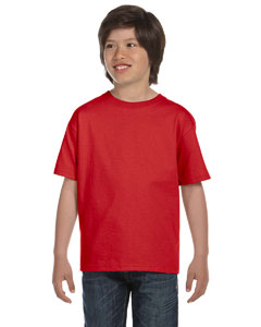Red DryBlend™ Youth 5.6 oz., 50/50 T-Shirt