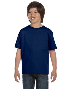 Navy DryBlend™ Youth 5.6 oz., 50/50 T-Shirt