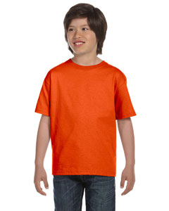 Orange DryBlend™ Youth 5.6 oz., 50/50 T-Shirt