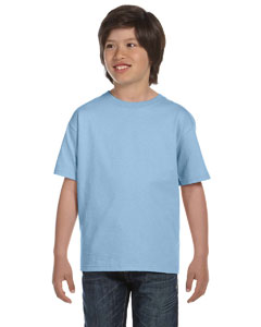 Light Blue DryBlend™ Youth 5.6 oz., 50/50 T-Shirt