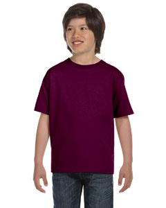 Maroon DryBlend™ Youth 5.6 oz., 50/50 T-Shirt