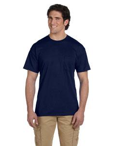 Navy DryBlend™ 5.6 oz., 50/50 Pocket T-Shirt