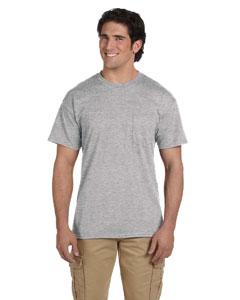 Sport Grey DryBlend™ 5.6 oz., 50/50 Pocket T-Shirt