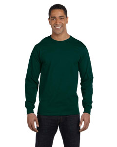 Forest Green DryBlend™ 5.6 oz., 50/50 Long-Sleeve T-Shirt