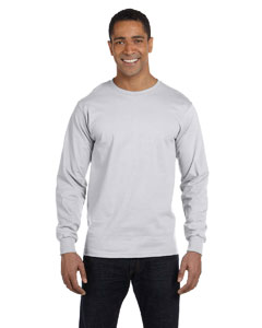 Ash Grey DryBlend™ 5.6 oz., 50/50 Long-Sleeve T-Shirt