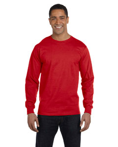 Red DryBlend™ 5.6 oz., 50/50 Long-Sleeve T-Shirt
