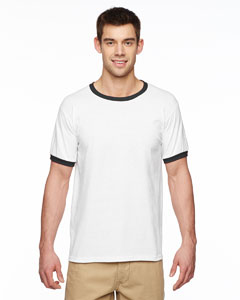 White/black DryBlend® 5.6 oz. Ringer T-Shirt