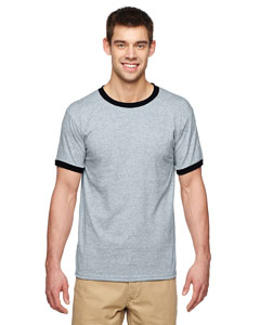 Sport Grey/black DryBlend® 5.6 oz. Ringer T-Shirt